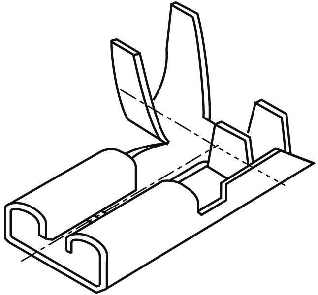 Faston konektor zásuvka Vogt Verbindungstechnik 38372C.67 6.3 mm x 0.8 mm, 90 °, neizolované, kov, 1 ks