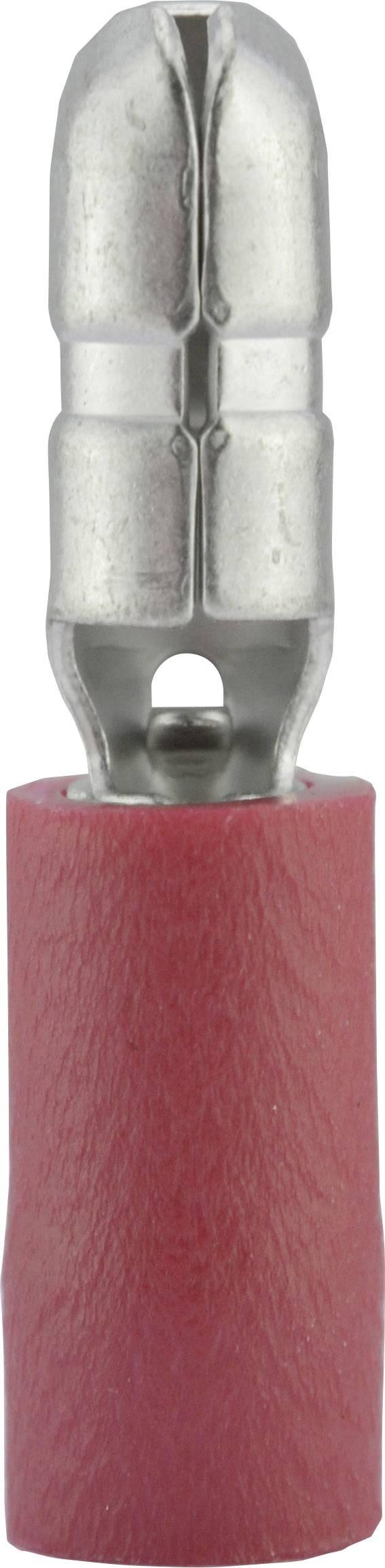 Guľatý faston Vogt Verbindungstechnik 3920S, 0.50 - 1 mm², Ø hrotu: 4 mm, čiastočne izolované, červená, 1 ks