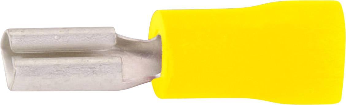 Faston konektor zásuvka Vogt Verbindungstechnik 389805 2.8 mm x 0.5 mm, 180 °, čiastočne izolované, žltá, 1 ks