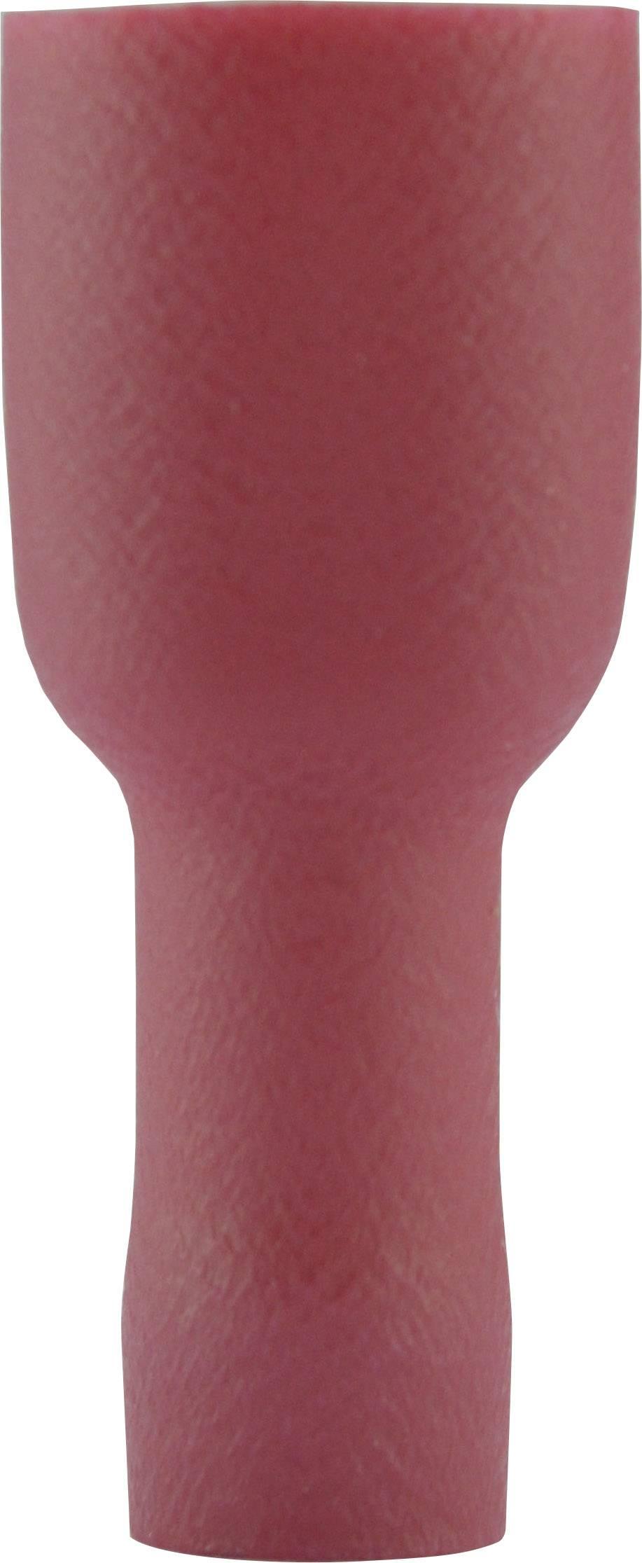 Faston zásuvka Vogt Verbindungstechnik 3944 6.3 mm x 0.8 mm, 180 °, úplná izolace, červená, 1 ks