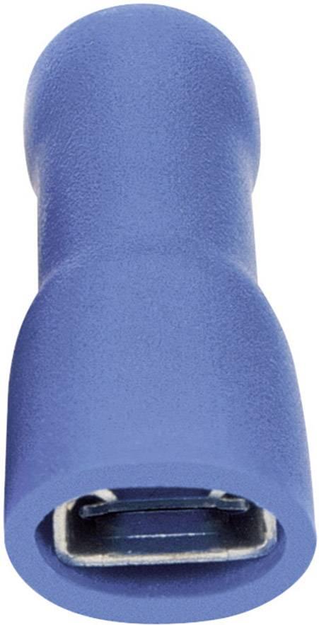Faston zásuvka Vogt Verbindungstechnik 3945 6.3 mm x 0.8 mm, 180 °, plná izolace, modrá, 1 ks