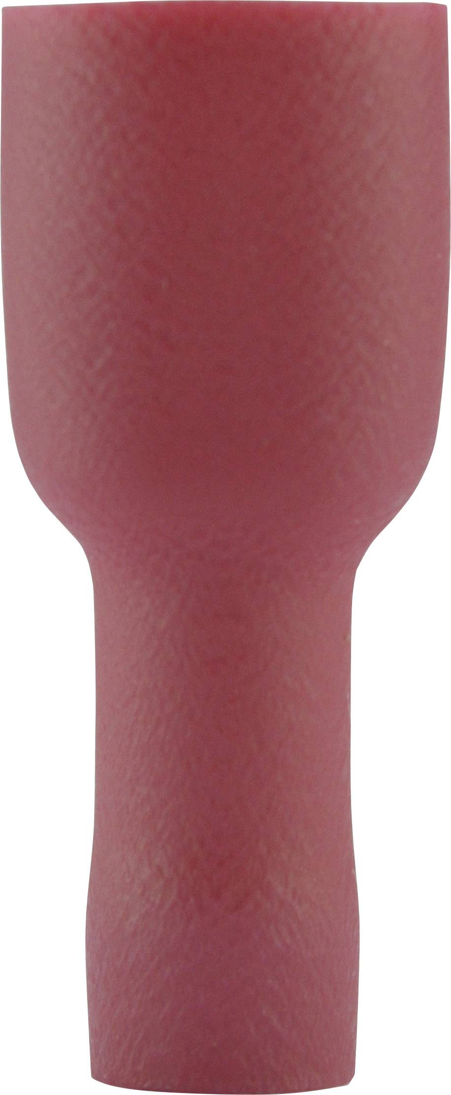 Faston zásuvka Vogt Verbindungstechnik 396108 4.8 mm x 0.8 mm, 180 °, plná izolace, červená, 1 ks