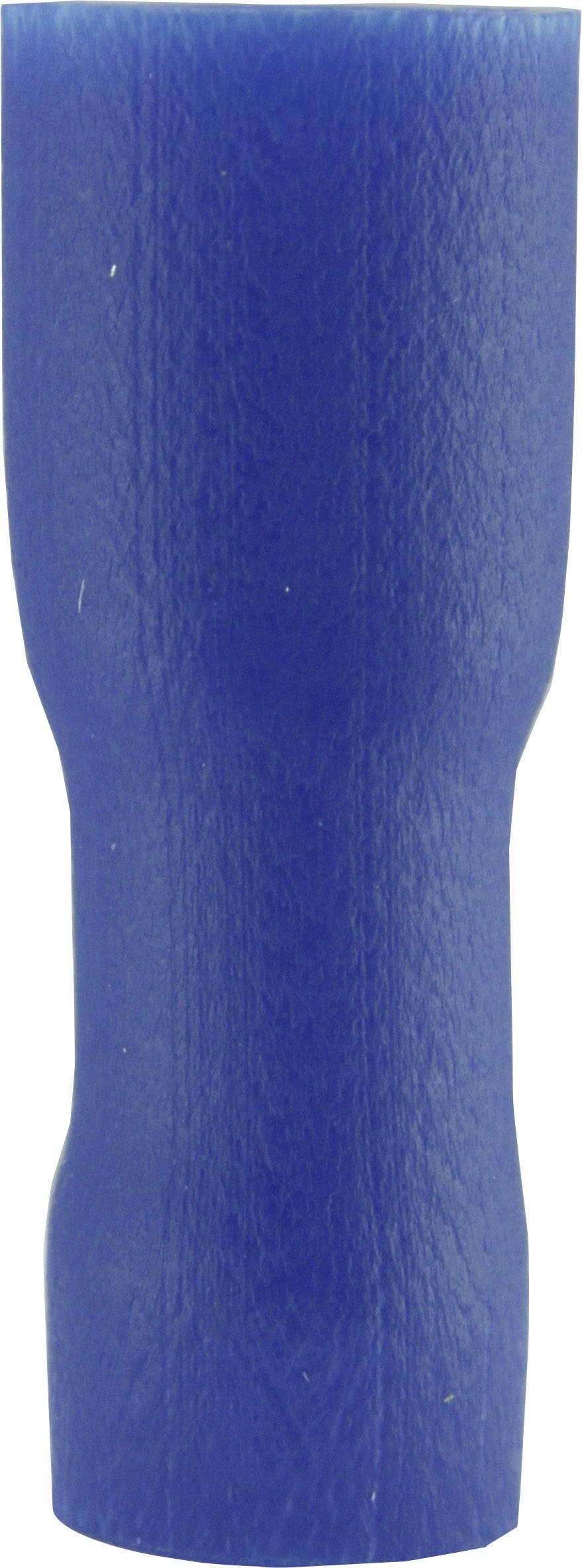 Faston konektor zásuvka Vogt Verbindungstechnik 396208 4.8 mm x 0.8 mm, 180 °, úplne izolované, modrá, 1 ks