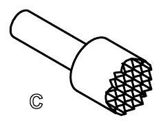 Zkušební hrot PTR 5110/S-C-1.2NAU-2.3C