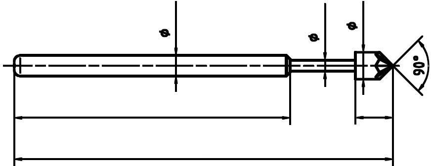 Skúšobný hrot PTR 1015-K-0.7N-AU-1.8