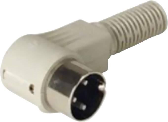 DIN kruhový konektor zástrčka, zahnutá Hirschmann MAWI 50 SB, pinov 5, sivá, 1 ks