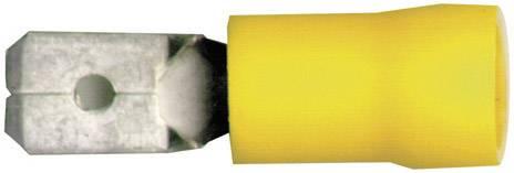 Faston konektor zástrčka Vogt Verbindungstechnik 3912 6.3 mm x 0.8 mm, 180 °, čiastočne izolované, žltá, 1 ks