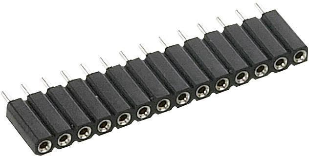 Zásuvková lišta (precízna) TRU COMPONENTS TC-0510020-1-50-00 TC-0510-020-1-50-00, řádky 1, kontakty na řádek 20, 1 ks