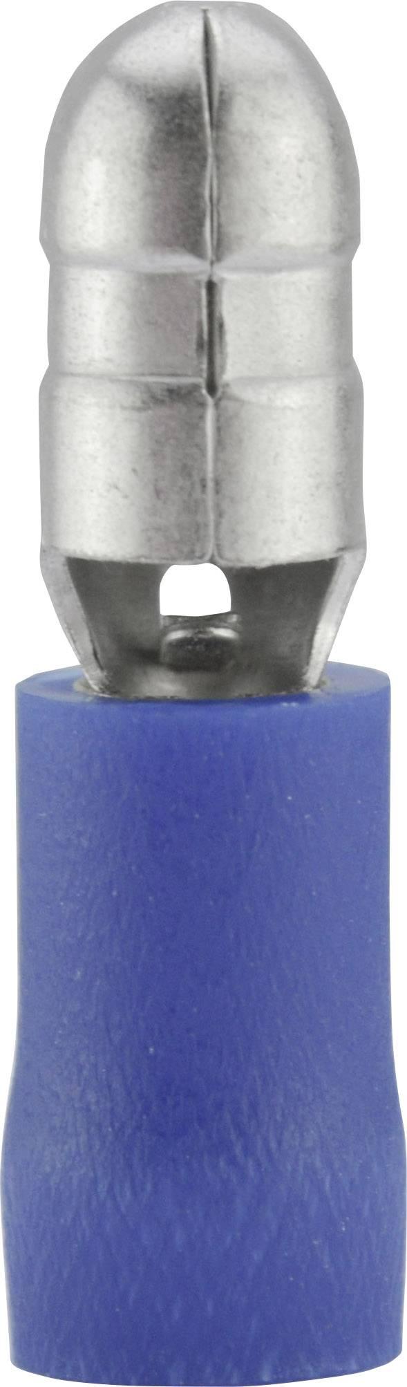 Guľatý faston Vogt Verbindungstechnik 3921, 1.50 - 2.50 mm², Ø hrotu: 5 mm, čiastočne izolované, modrá, 1 ks