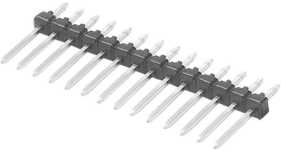 Pinová lišta W & P Products 943-13-010-00, 1x 10pól., 2,54 mm, 25,4x 2,50x 12,60 mm