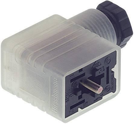 Napájecí prům. konektor se signalizací Hirschmann GML 216 NJ LED 24 HH schwarz (934 458-002), šrouby/Kabelové