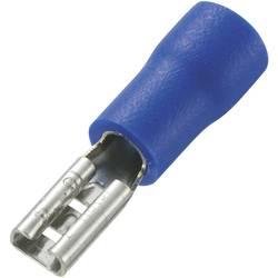 Faston zásuvka TRU COMPONENTS 737402 2.8 mm x 0.5 mm, 180 °, částečná izolace, modrá, 100 ks