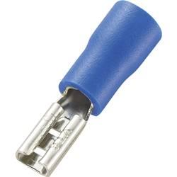 Faston zásuvka TRU COMPONENTS 737443 2.8 mm x 0.8 mm, 180 °, částečná izolace, modrá, 100 ks