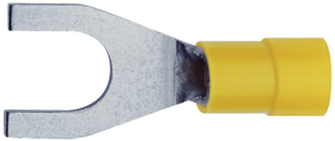 Vidlicové kabelové oko Klauke 650C10, Ø otvoru 10.5 mm, žlutá, 1 ks
