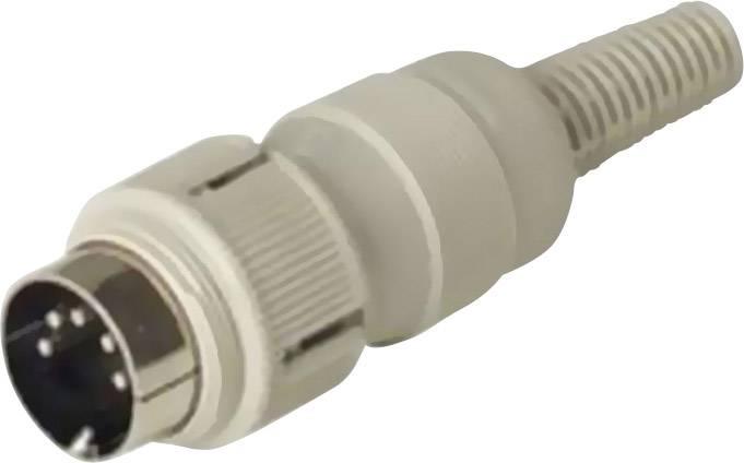 DIN kruhový konektor zástrčka, rovná Hirschmann MAS 4100, počet pinov: 4, sivá, 1 ks