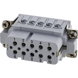 Konektorová vložka, zásuvka postříbřené kontakty Amphenol C146 10B010 002 4, 50 ks
