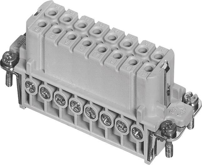 Konektorová vložka, zásuvka postříbřené kontakty Amphenol C146 10B016 002 4, 1 ks