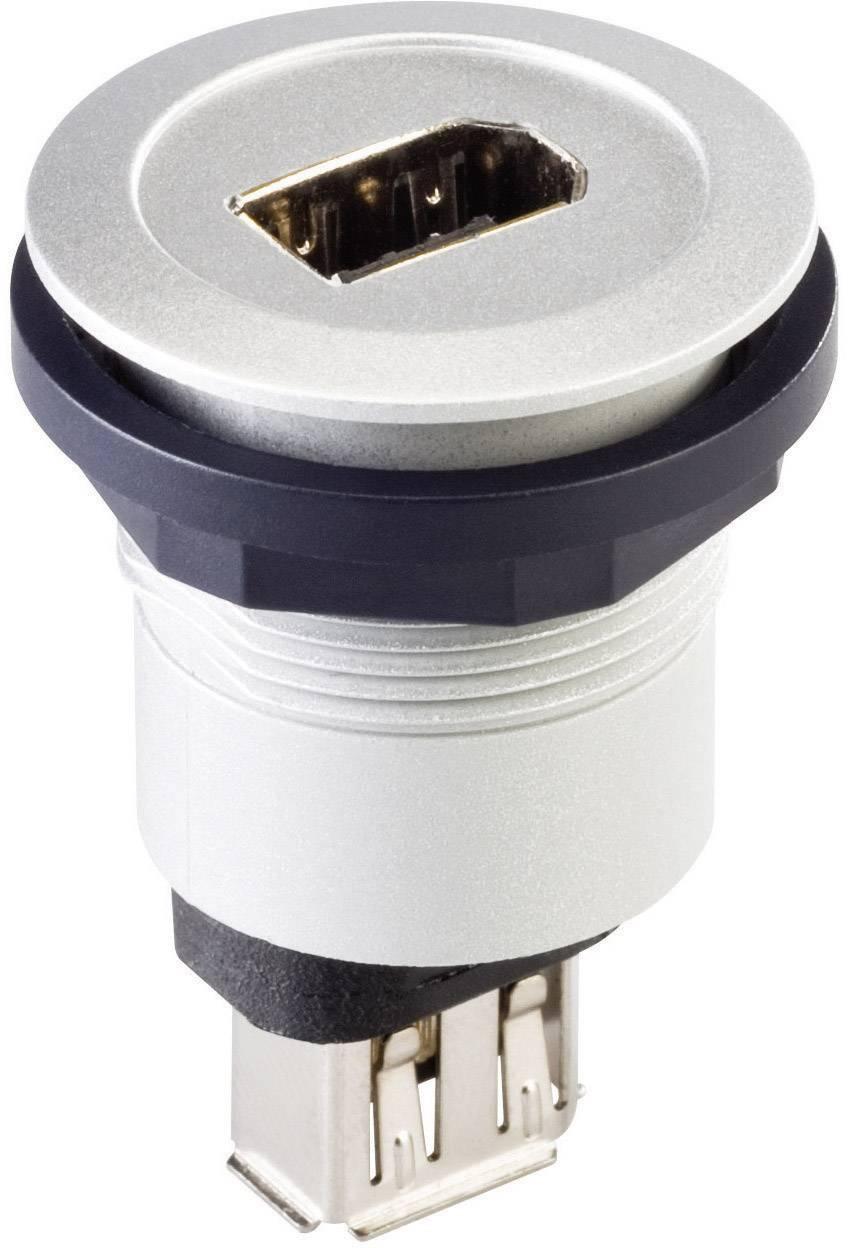 FireWire IEEE 1394 Schlegel RRJ_FW6_STB, IP65, zásuvka vestavná, stříbrná