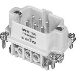 Vložka pinového konektora Amphenol C146 10A006 002 1, 6 + PE, skrutkovací, 1 ks