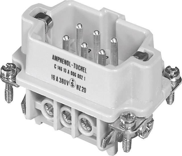 Vložka pinového konektoru Heavy mate® C146 C146 10A006 002 1 Amphenol, počet kontaktů: 6 + PE, 1 ks