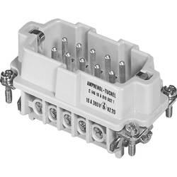 Vložka pinového konektora Amphenol C146 10A010 002 1, 10 + PE, skrutkovací, 1 ks