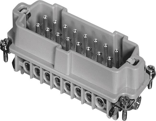 Vložka pinového konektoru Heavy|mate® C146 C146 10A016 002 1 Amphenol, počet kontaktů: 16 + PE, 1 ks