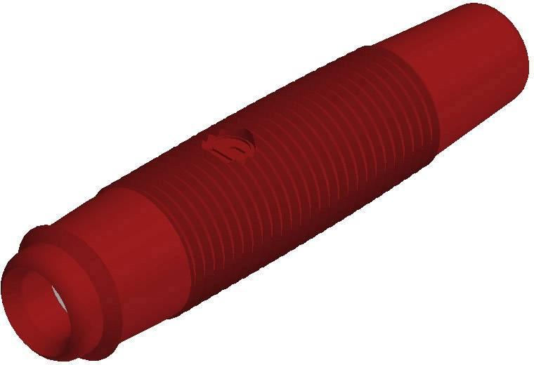 Laboratórna zásuvka SKS Hirschmann KUN 30 – zásuvka, rovná, Ø hrotu: 4 mm, červená, 1 ks