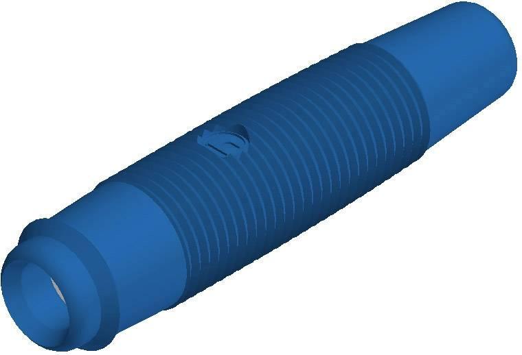 Laboratórna zásuvka SKS Hirschmann KUN 30 – zásuvka, rovná, Ø hrotu: 4 mm, modrá, 1 ks
