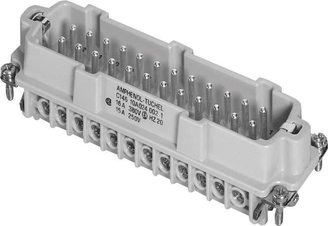 Vložka pinového konektora Amphenol C146 10A024 002 1, 24 + PE, skrutkovací, 1 ks
