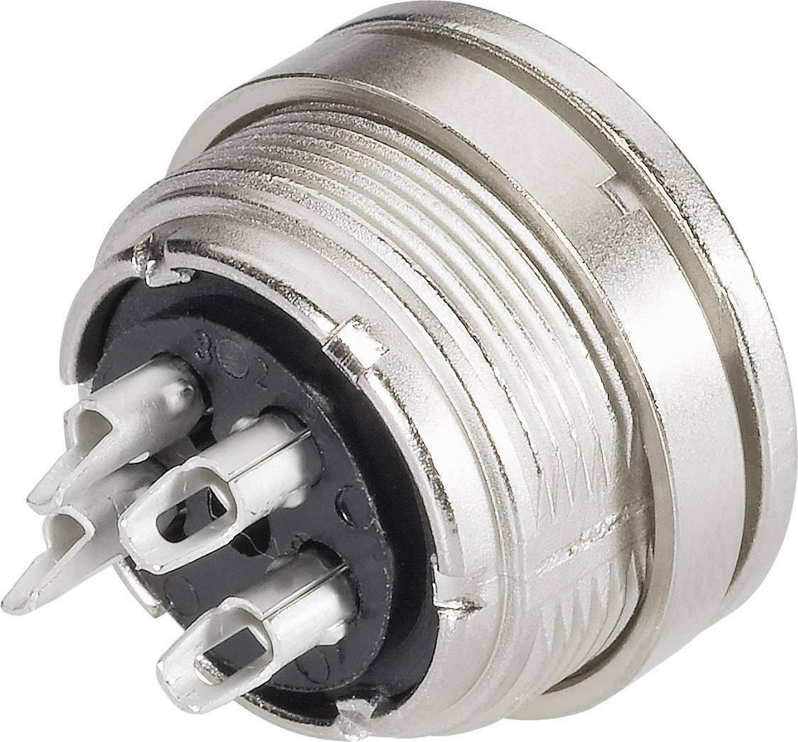Miniatúrny okrúhly konektor mini guľatý konektor Konektor Binder 09-0308-00-03 5 A, IP40, poniklovaná, 1 ks
