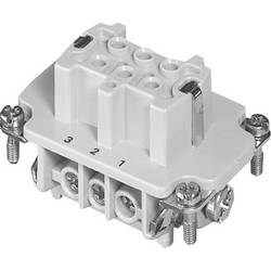 Konektorová vložka, zásuvka Amphenol C146 10B006 002 1, 6 + PE, šroubovací, 1 ks