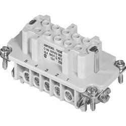 Konektorová vložka, zásuvka Amphenol C146 10B010 002 1, 10 + PE, šroubovací, 1 ks