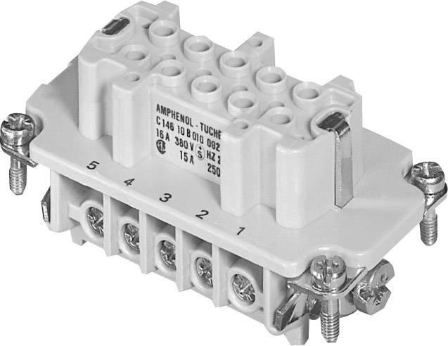 Sada konektorové zásuvky Heavy mate® C146 Amphenol C146 10B010 002 1, počet kontaktů 10 + PE, 1 ks