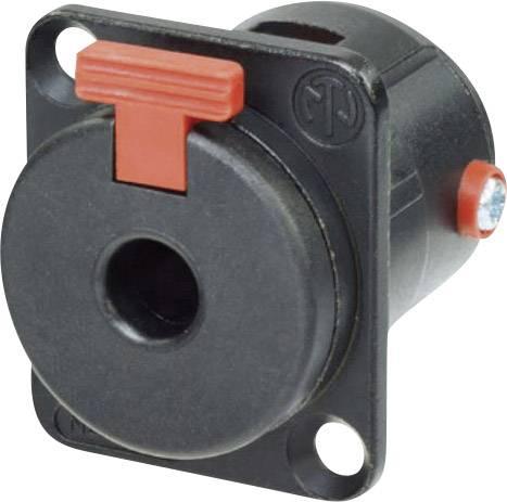 Jack konektor 6.35 mm čiernobiela prírubová zásuvka, rovná Neutrik NJ3FP6CBAG, Počet pinov: 2, čierna, 1 ks
