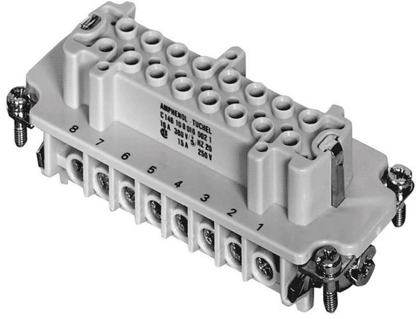 Konektorová vložka, zásuvka Amphenol C146 10B016 002 1, 16 + PE, šroubovací, 1 ks