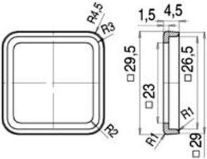 Těsnící profil pro magnetické ventily binder 16-8088-000