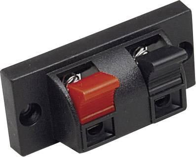 Svorka reproduktoru 2pól. BKL 205025, zásuvka vestavná vertikální, černá