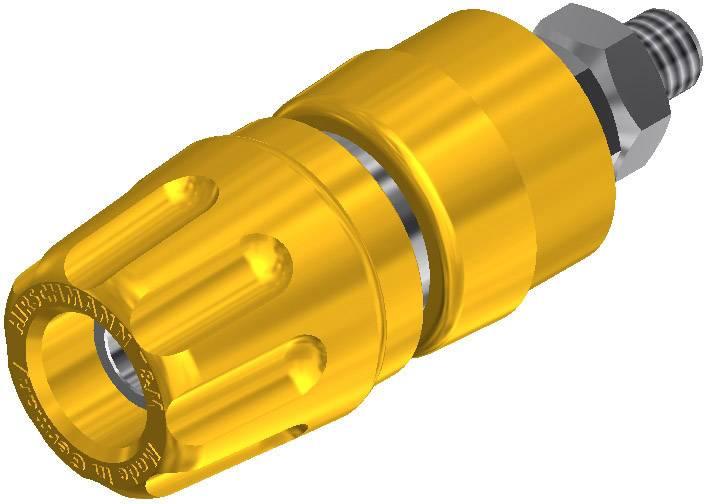 Pólová svorka SKS Hirschmann PKI 10 A (930103103), (Ø x d) 14 x 42 mm, žlutá