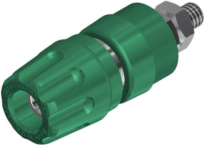 Pólová svorka SKS Hirschmann PKI 10 A (930103104), (Ø x d) 14 x 42 mm, zelená