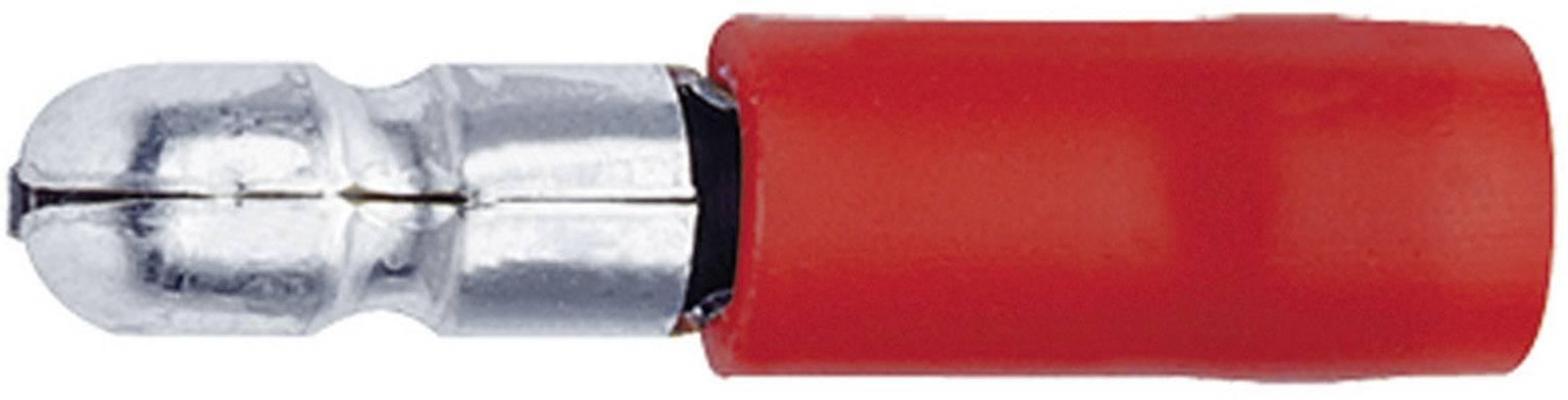 Guľatý faston Klauke 1020, 0.50 - 1 mm², Ø hrotu: 4 mm, čiastočne izolované, červená, 1 ks