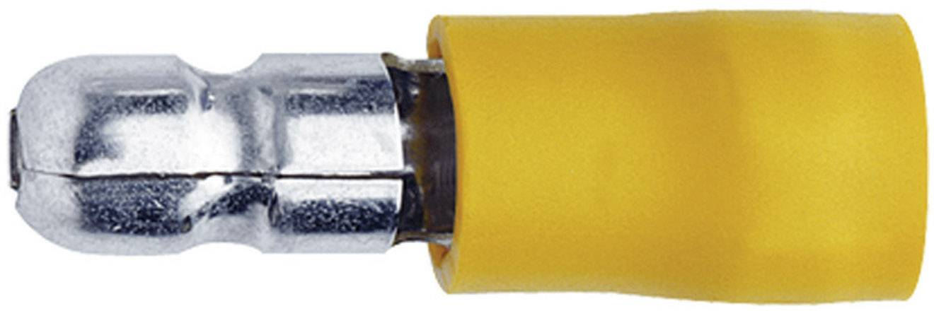 Guľatý faston Klauke 1050, 4 - 6 mm², Ø hrotu: 5 mm, čiastočne izolované, žltá, 1 ks