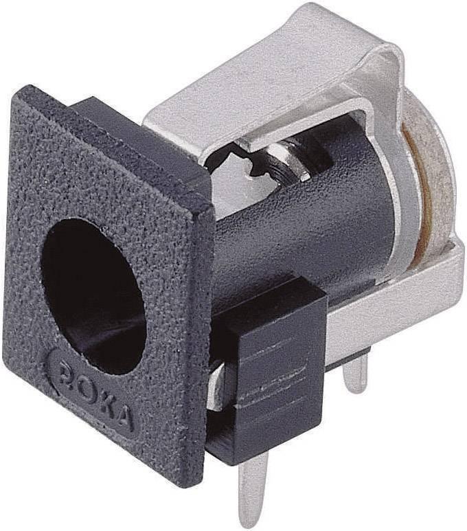 Napájecí konektor, 3 A, zásuvka vestavná horizontální, 2,1/6,6 mm
