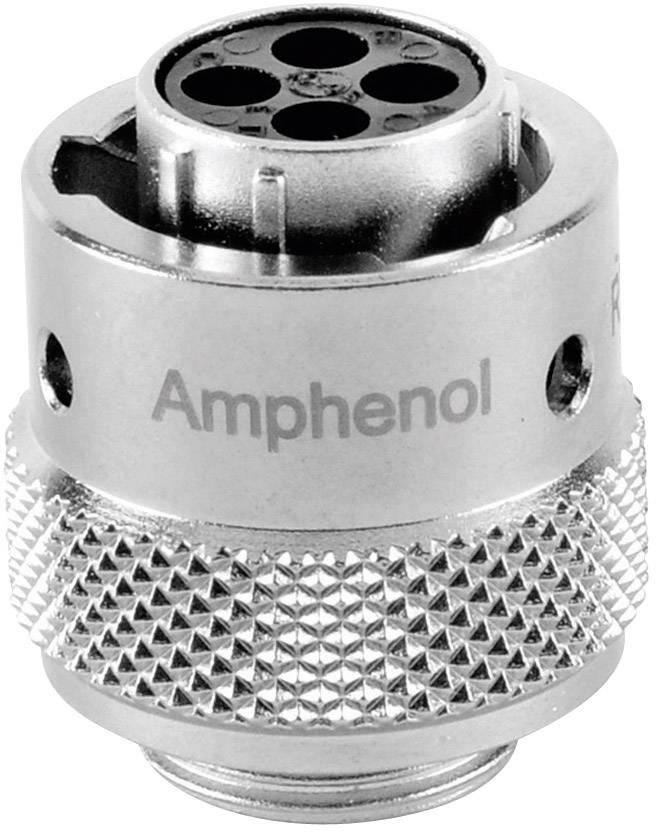 Guľatý faston Amphenol RT0610-4SNH IP67 (v zastrčenom stave), poniklovaná, pólů 4, 1 ks