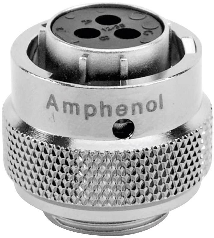 Guľatý faston Amphenol RT0612-3SNH IP67 (v zastrčenom stave), poniklovaná, pólů 3, 1 ks