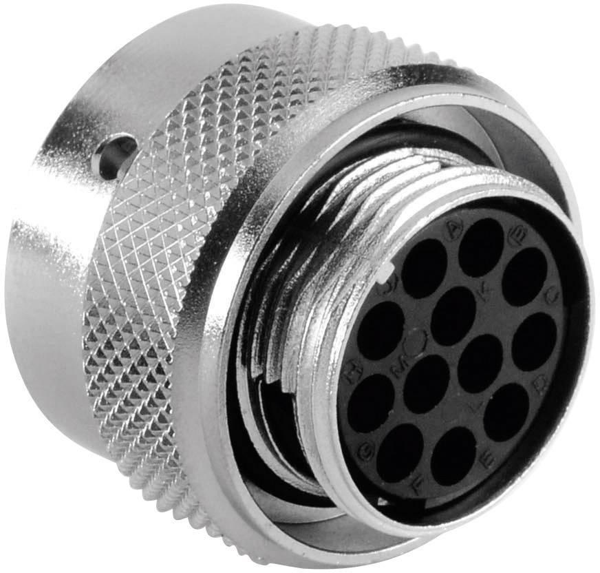 Kabelový konektor 12pól. Amphenol RT0614-12SNH, zásuvka rovná