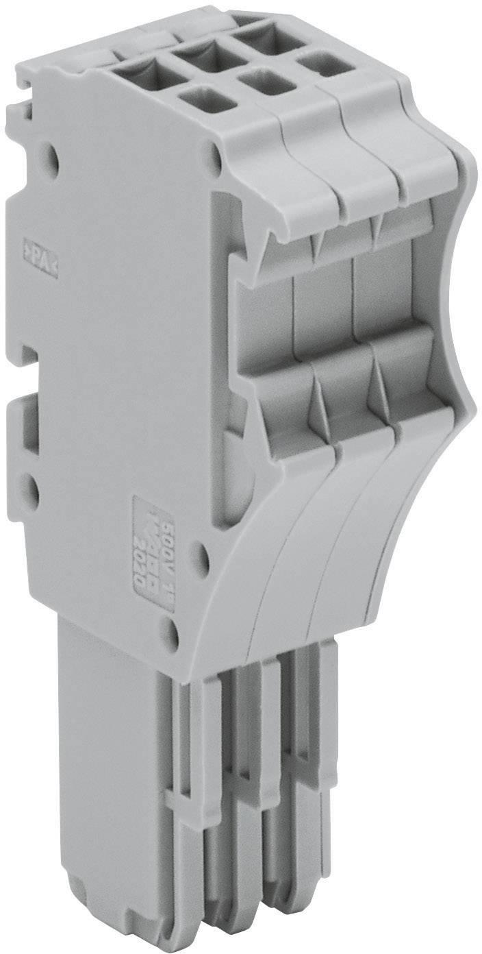 Jednovodičová pružinová lišta X-COM® S-SYSTÉM MINI WAGO 2020-115 šedá 1 ks