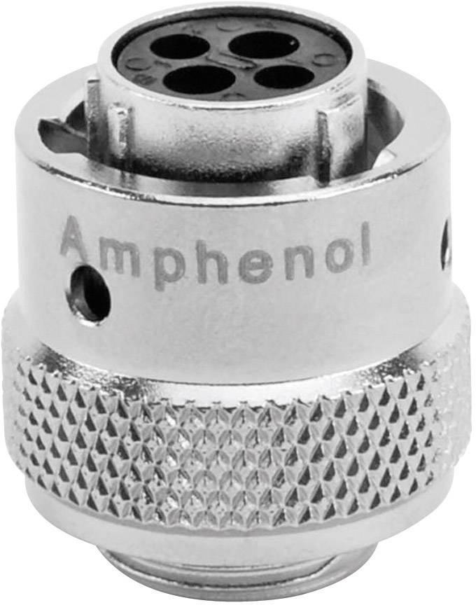 Guľatý faston Amphenol RT0610-2SNH IP67 (v zastrčenom stave), poniklovaná, pólů 4, 1 ks