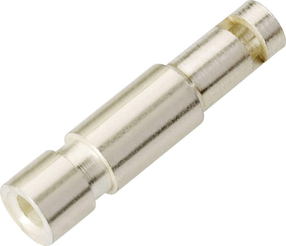 Laboratorní konektor Ø 2 mm Schnepp KP 2000, zástrčka rovná, stříbrná