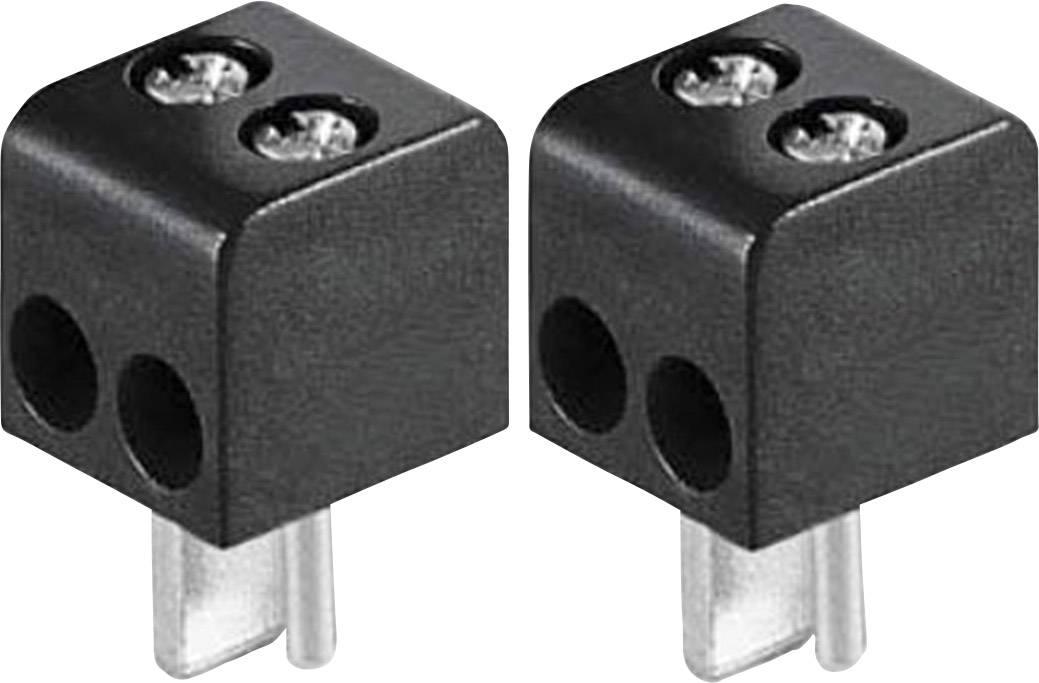 Konektor reproduktoru zástrčka, rovná BKL Electronic 0205018, pinov 2, čierna, 2 ks
