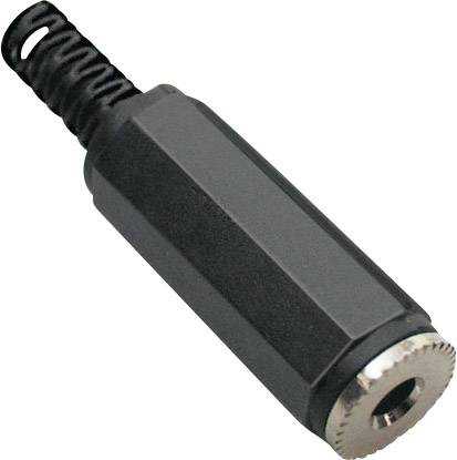 Jack konektor 3,5 mm stereo BKL Electronic 1108003, zásuvka rovná, 3pól., černá
